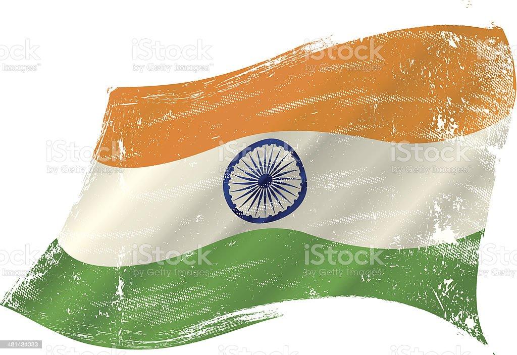 Indian grunge flag grunge flag vector art illustration