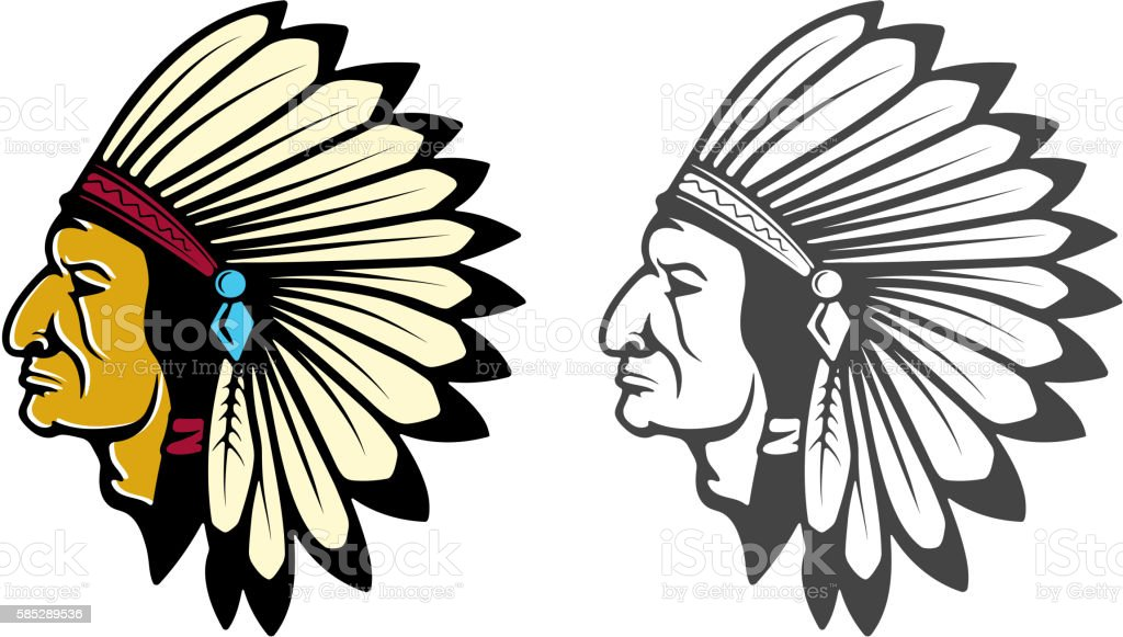 royalty free indian headdress clip art vector images rh istockphoto com indian feather headdress clipart