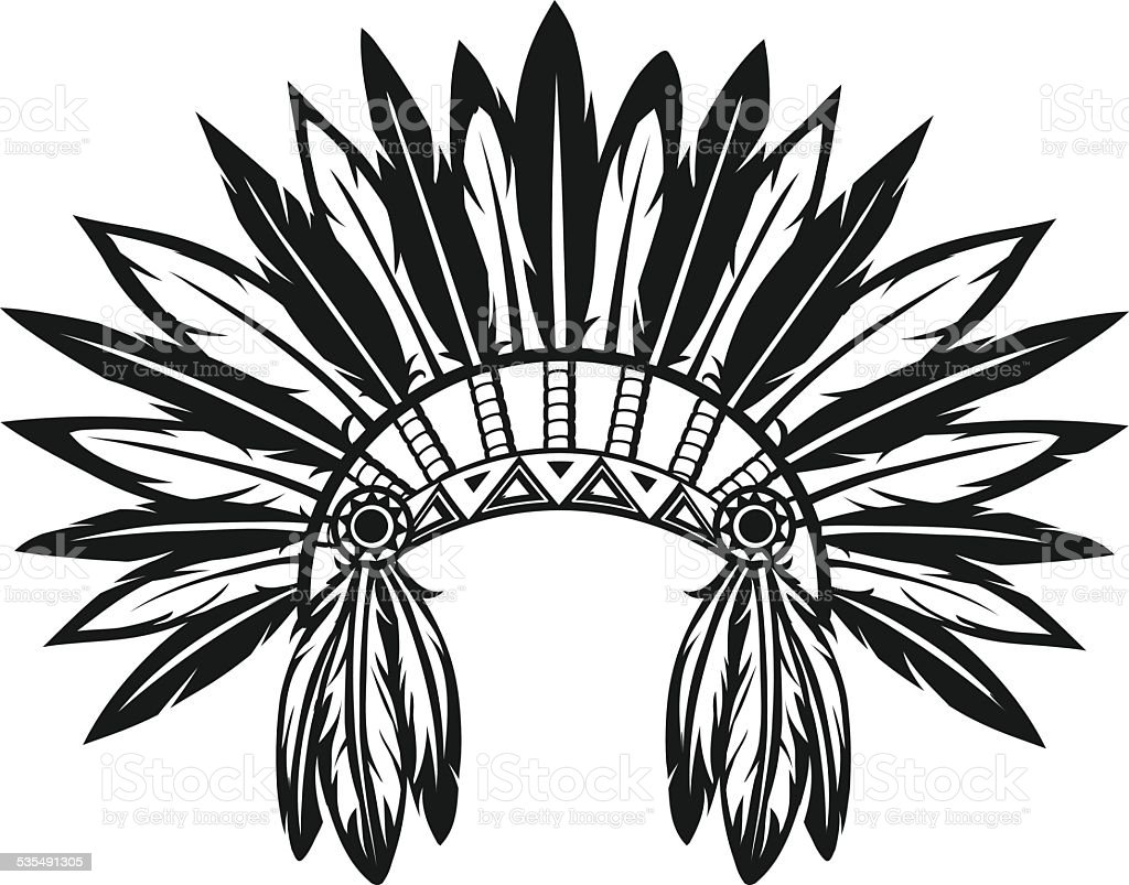 Indian Headdress Stock Vector Art & More Images of 2015 535491305 ...