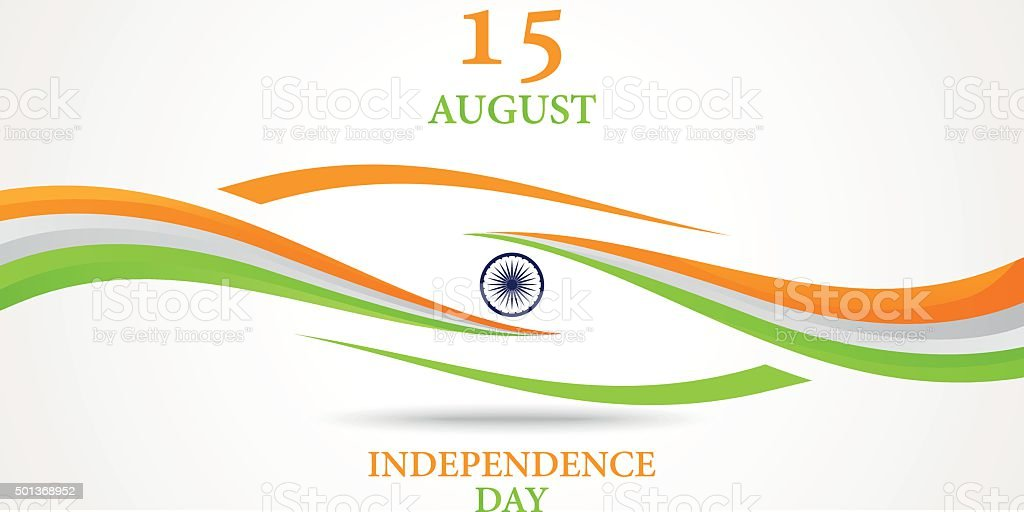 Indian Independence Day background vector art illustration