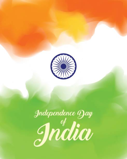 stockillustraties, clipart, cartoons en iconen met indian independence day concept - historisch document