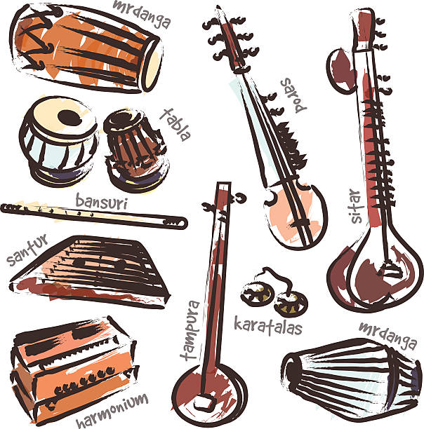 Best Indian Music Illustrations, Royalty-Free Vector