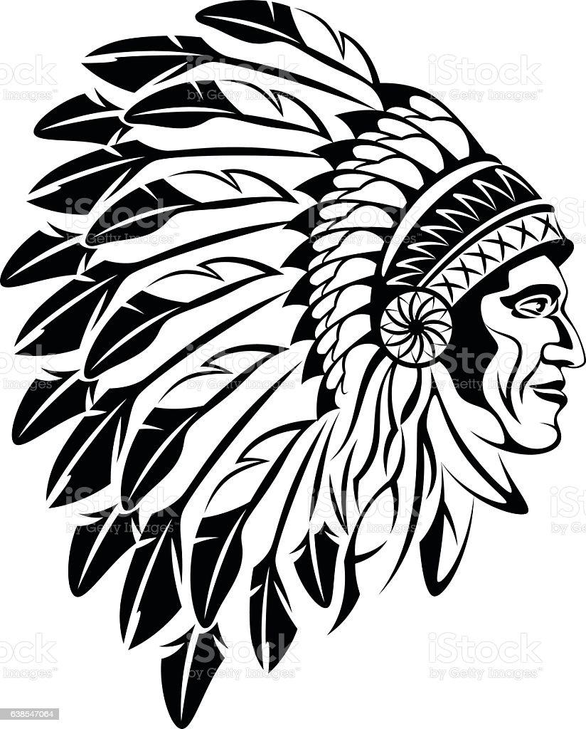 royalty free indian headdress clip art vector images rh istockphoto com