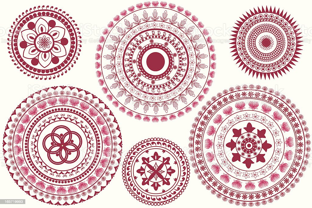 Indian Mandala Design royalty-free stock vector art