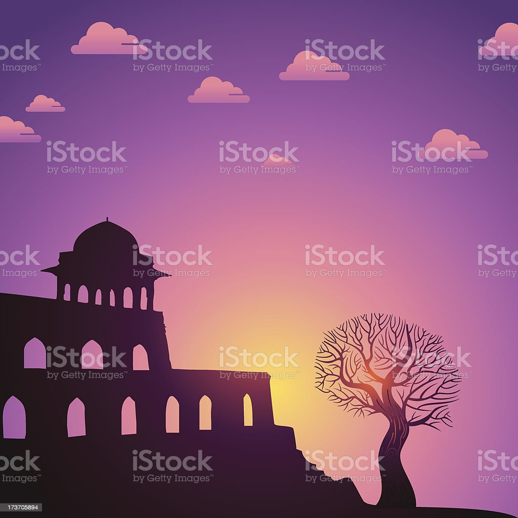 Indian monuments royalty-free stock vector art