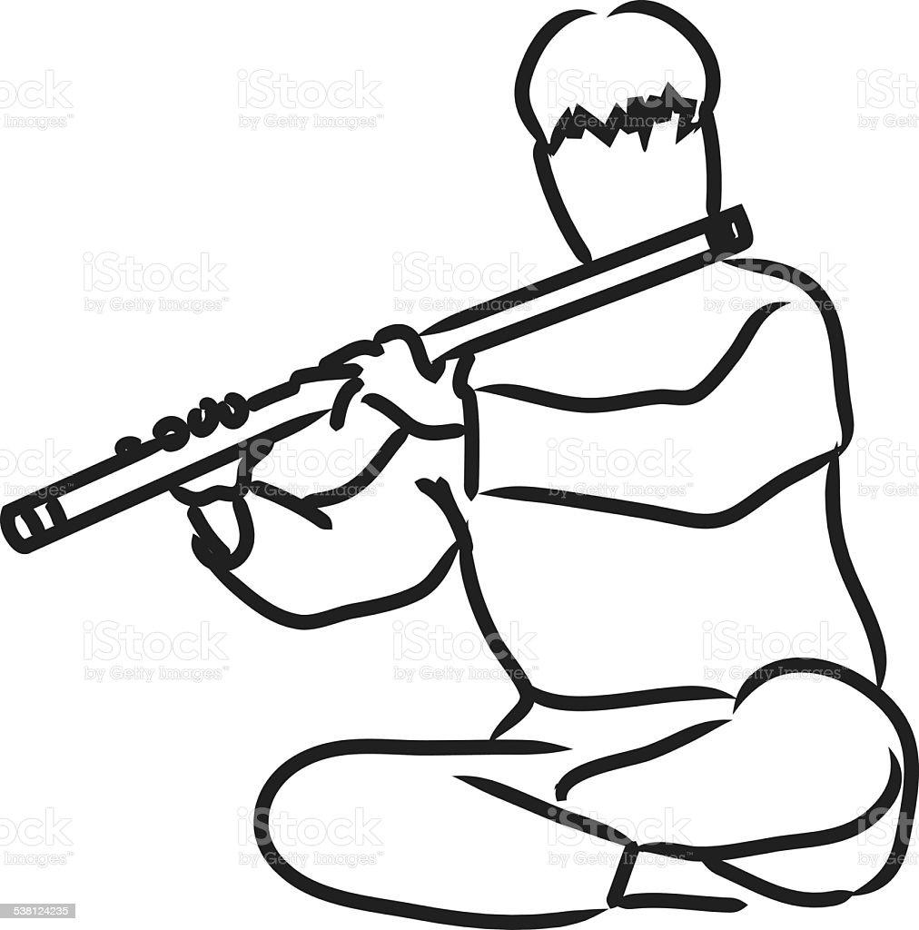 royalty free bamboo flute clip art vector images illustrations rh istockphoto com flute clip art free flute clip art free