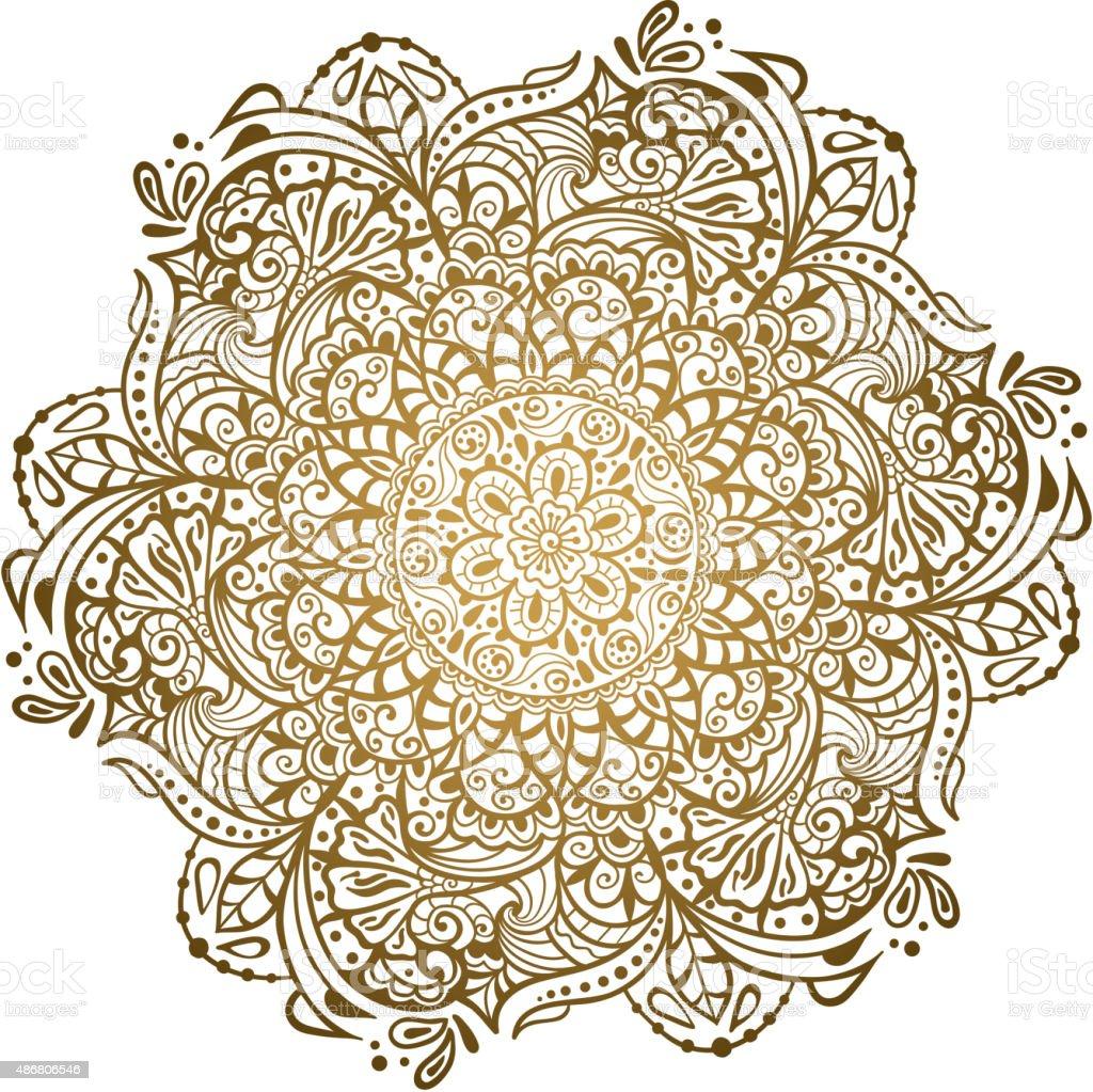 Indian Ornament Background vector art illustration