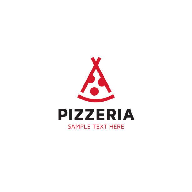 indische pizza-logo-design-vorlage - pizzeria stock-grafiken, -clipart, -cartoons und -symbole