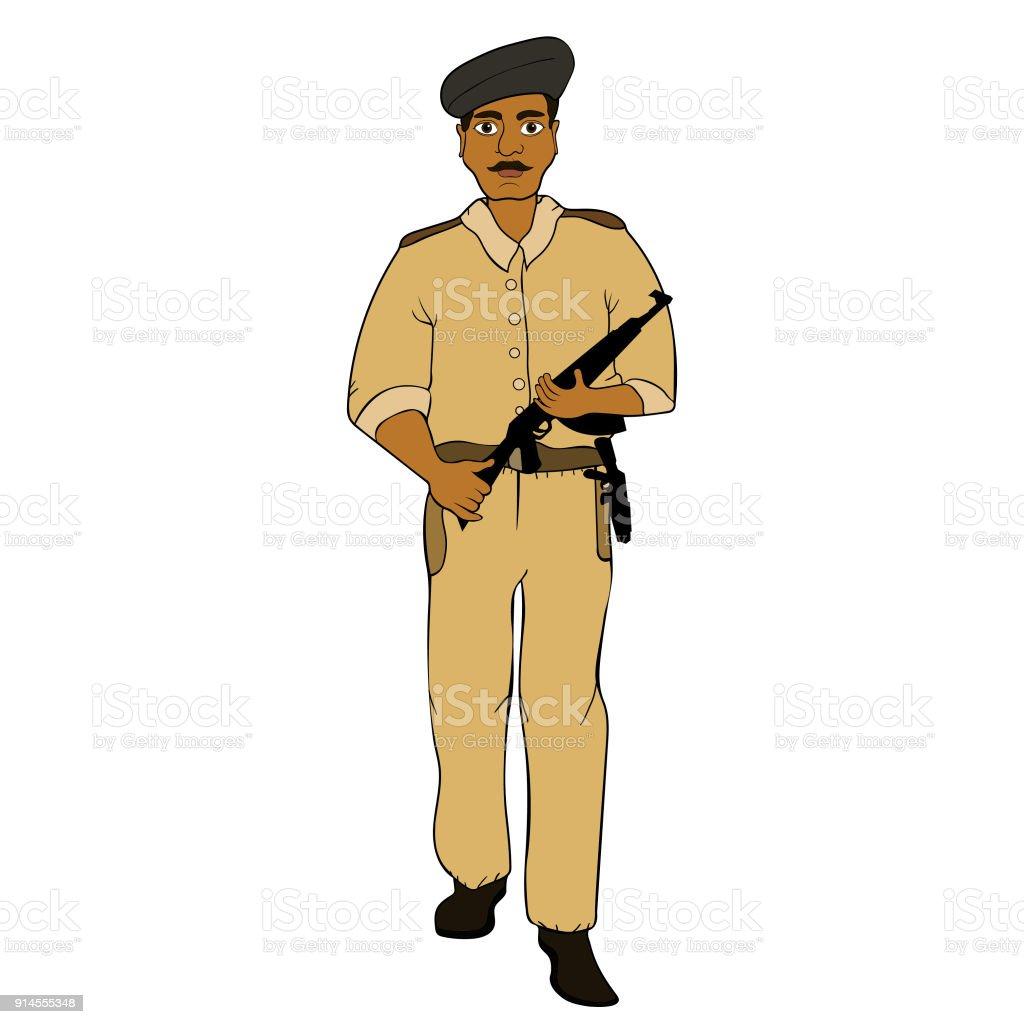 Indian police man clip art