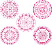 Indian Rangoli design,geometrically aligned .