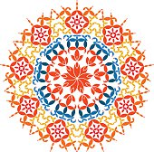 Happy Pongal Greeting Background Indian Rangoli Pattern Vector Art