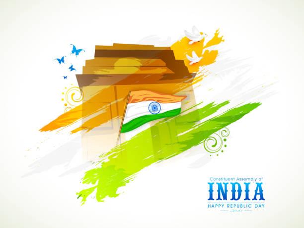 indian republic day celebration. - independence day 幅插畫檔、美工圖案、卡通及圖標