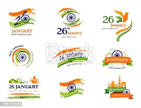 Indian Republic Day concept design, banner, poster template and logo