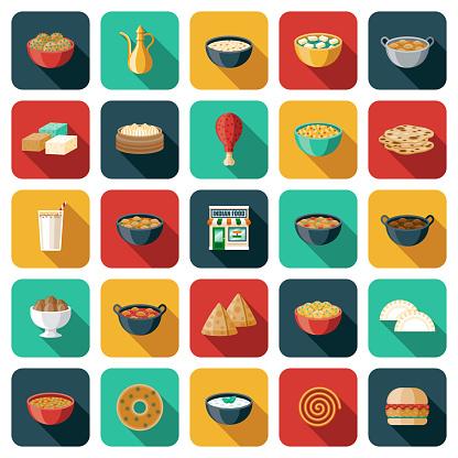 Indian Restaurant Icon Set