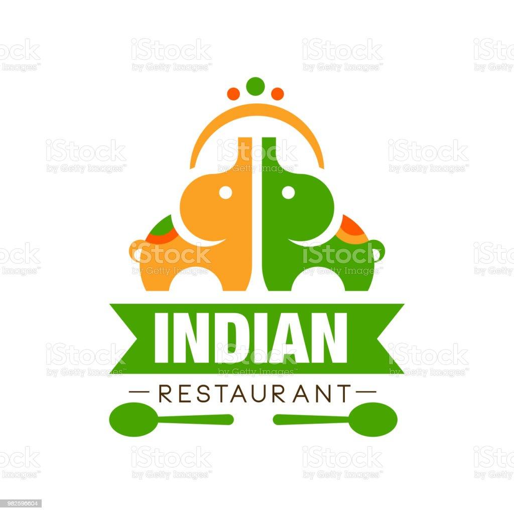 Ilustración de Restaurante Indio Símbolo Diseño Etiqueta De La ...