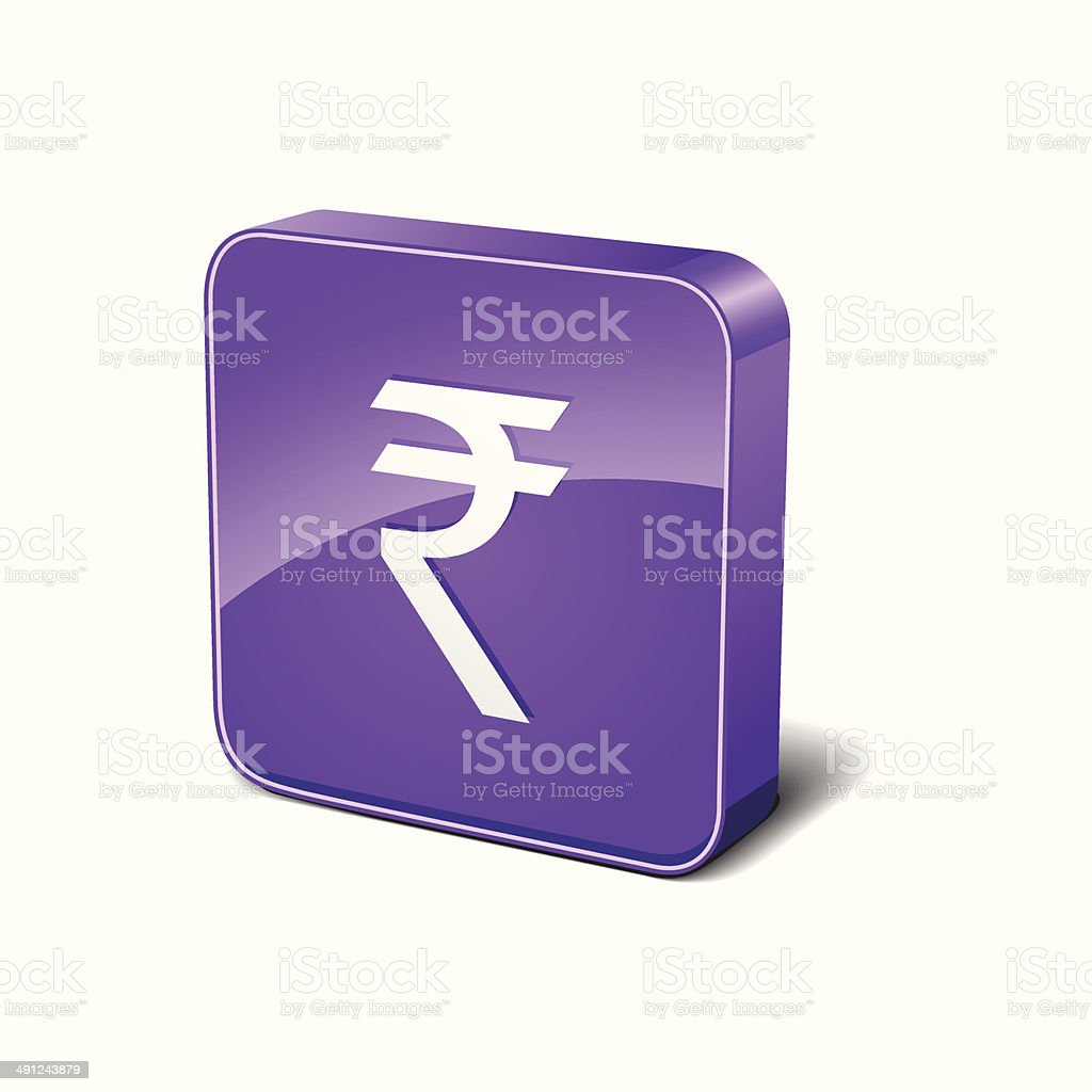 Indian Rupee 3d Rounded Corner Purple Vector Icon Button royalty-free indian rupee 3d rounded corner purple vector icon button stock vector art & more images of backgrounds