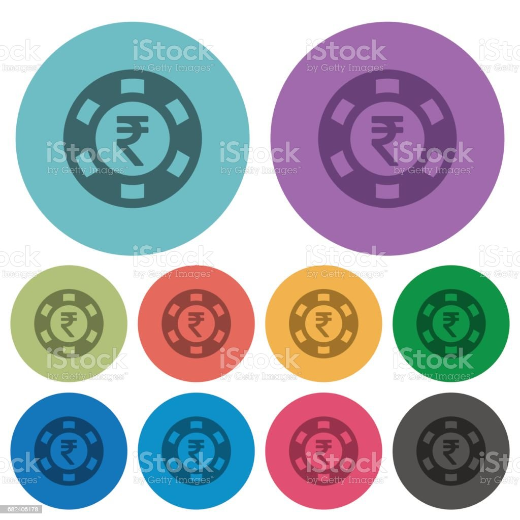 Indian Rupee casino chip color flat icons 免版稅 indian rupee casino chip color flat icons 向量插圖及更多 21點 圖片