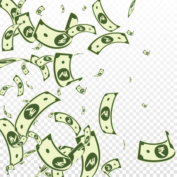 Royalty Free Money Raining Down Clip Art Vector Images