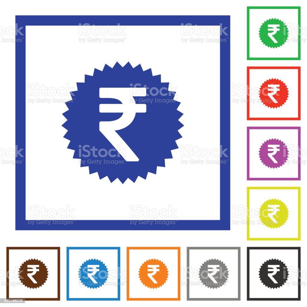 Indian Rupee sticker flat framed icons indian rupee sticker flat framed icons — стоковая векторная графика и другие изображения на тему Банк Стоковая фотография