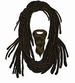 Indian sadhu hairstyle With beard.Hair dreadlocks.funny avatar.
