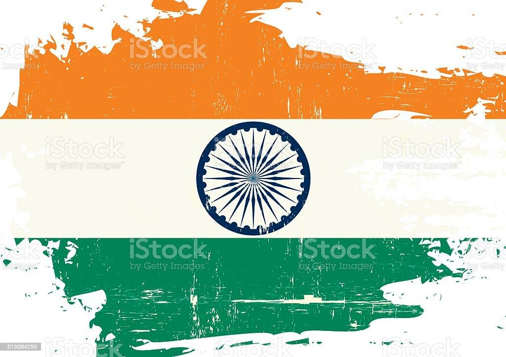 Indian scratched Flag vector art illustration