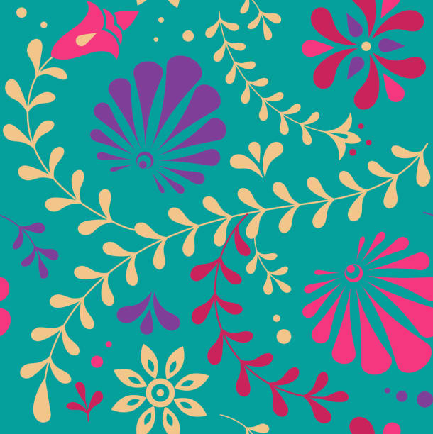 indian seamless pattern, background - indian food stock illustrations, clip art, cartoons, & icons