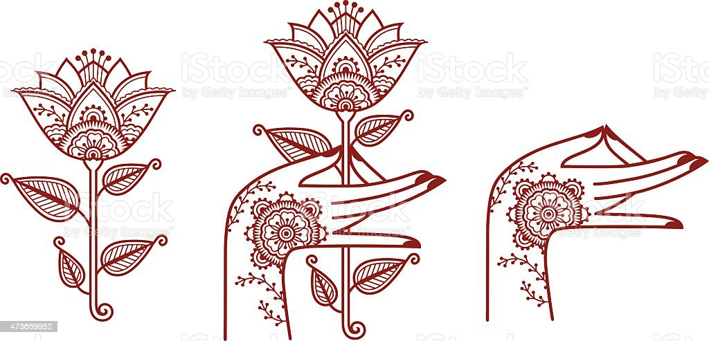 Indian style elements vector art illustration