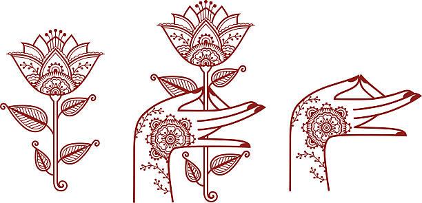 Indische Elemente – Vektorgrafik