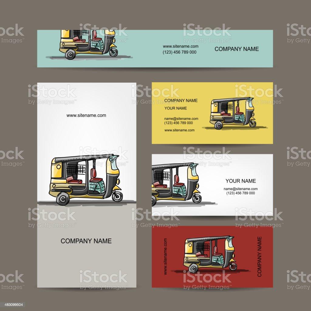 Indische Taxi Auto Visitenkarten Für Dein Design Stock