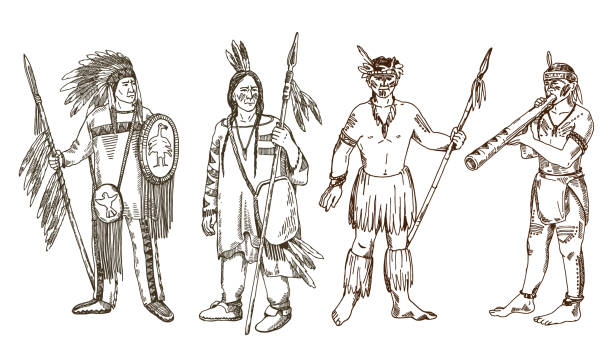 Best Apache Tribal Tattoos Drawing Illustrations, Royalty-Free ...