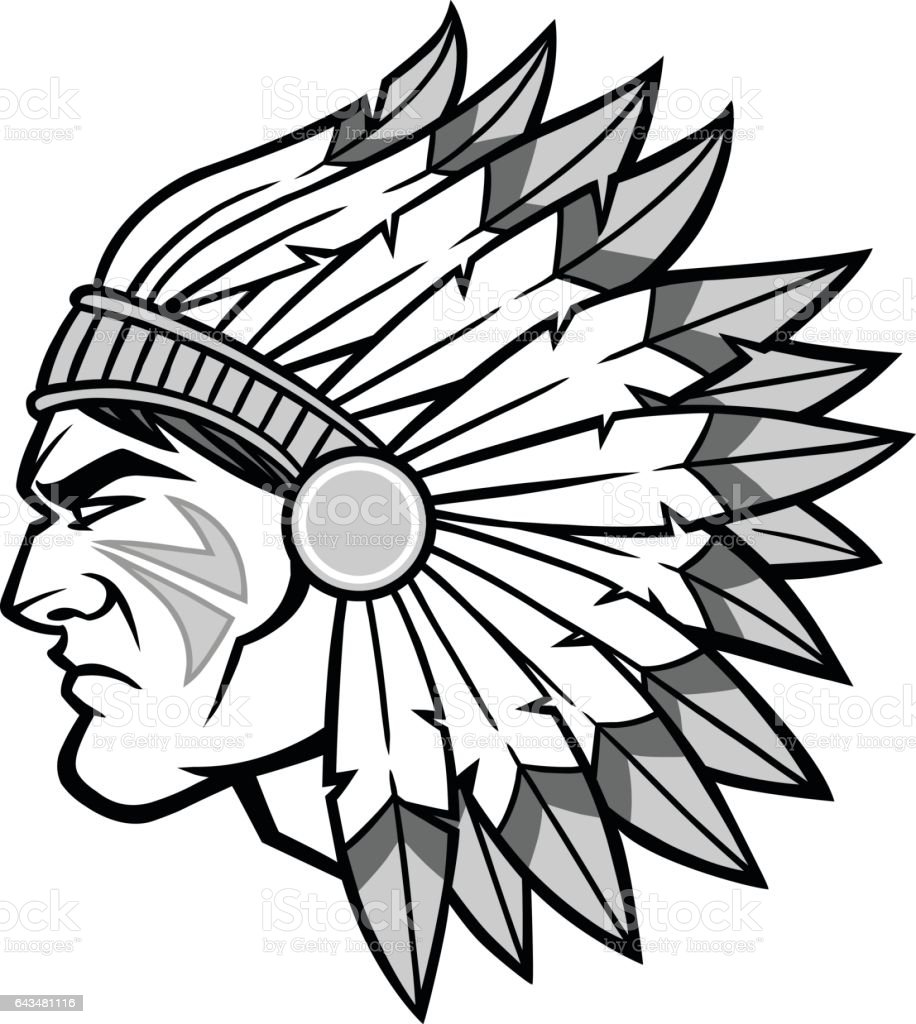 royalty free indian chief clip art vector images illustrations rh istockphoto com indian head clipart indian chief head clip art