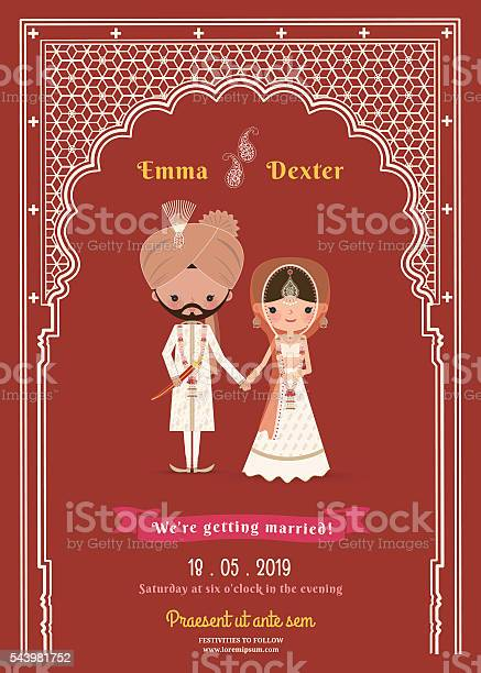 Indian wedding bride groom cartoon save the date card vector id543981752?b=1&k=6&m=543981752&s=612x612&h=jp2gy1z xzlzlvg3mmwsq9t8ak xrucbcd5bmfealh8=