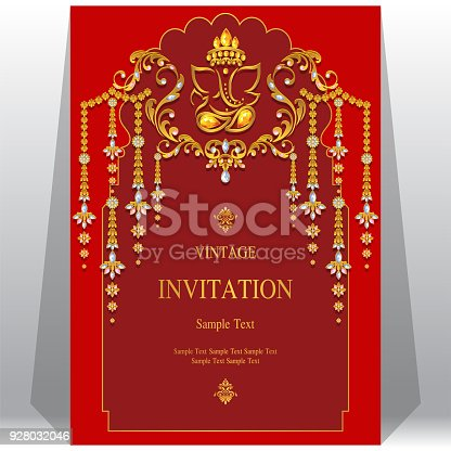 Ganesh Wedding Invitation Vector For Free Ai Svg And Eps