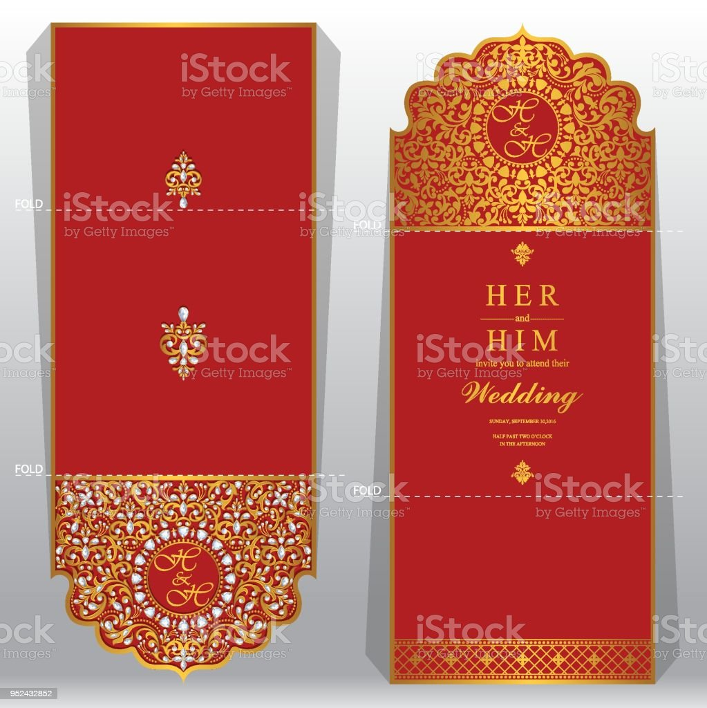 Desi Wedding Card Background - Design Templates
