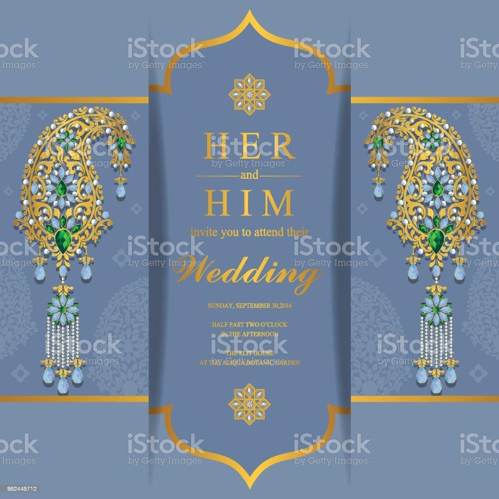 Luxury Indian Wedding Scroll Invitations Adornment - Invitations ...