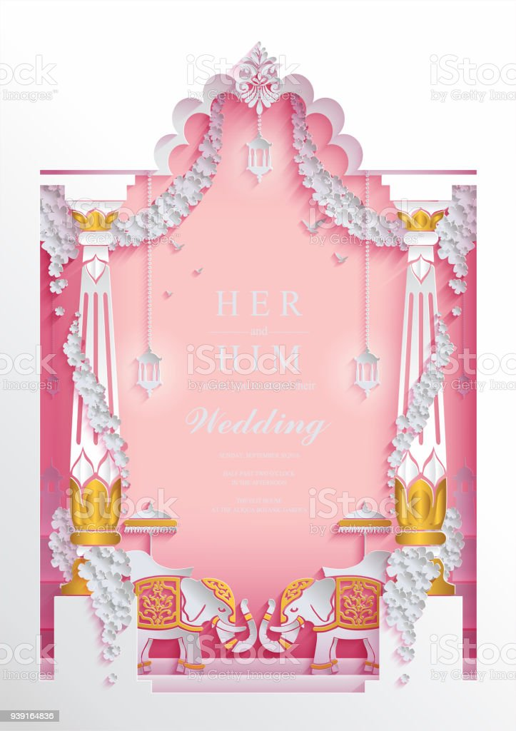 Indian Wedding Invitation Card Templates With Paper Art And Craft ...