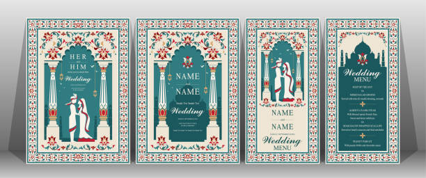 Best Indian Wedding Illustrations, Royalty-Free Vector