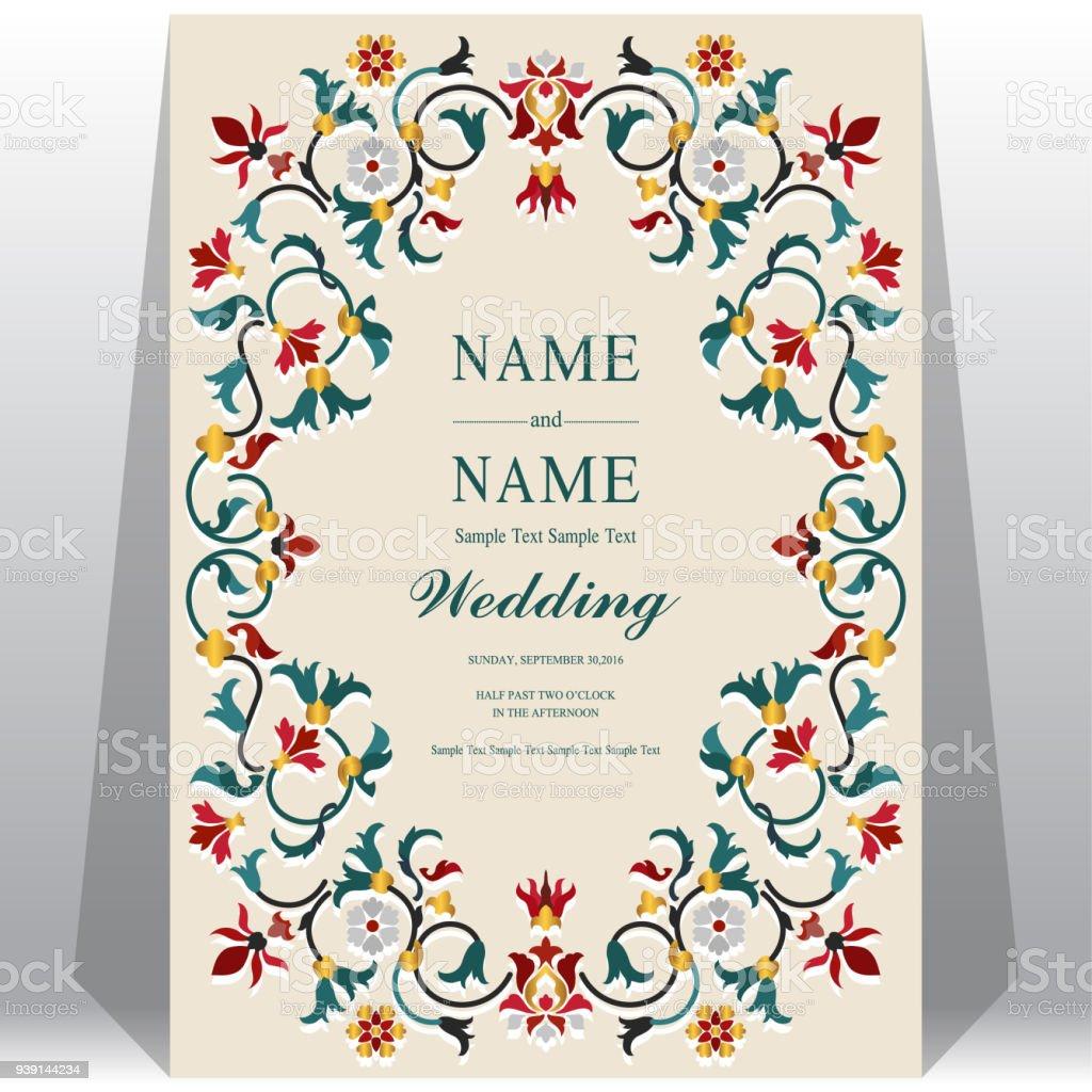 Indian Wedding Invitation Card Templates With Taj Mahal