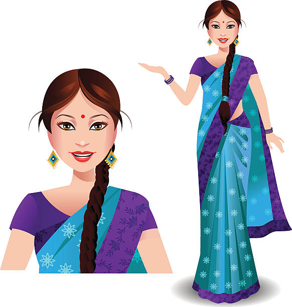 Crowd Of Indian Women Vector Avatars Stock Vector: Royalty Free Sari Clip Art, Vector Images & Illustrations