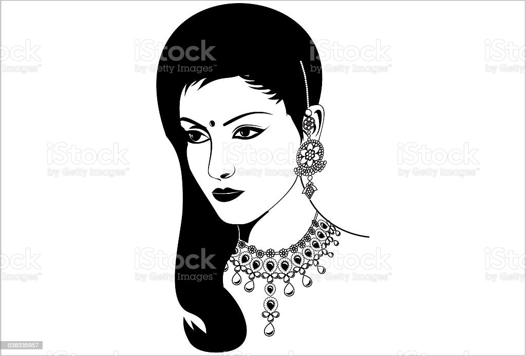 Indian Women Jewellery Illustration Stock Vector Art & More Images ...