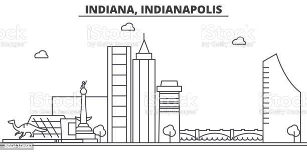 Indiana indianapolis architecture line skyline illustration linear vector id860410592?b=1&k=6&m=860410592&s=612x612&h=qz9efxoml33yzenswm7iopqd0sp3ich4azpnyc8evbm=