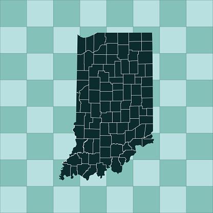 Indiana Map - Stockowe grafiki wektorowe i więcej obrazów Ameryka Północna