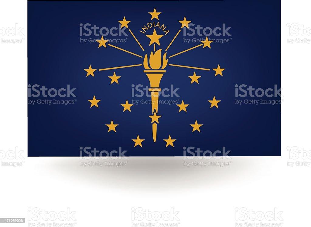 Bandeira do Estado de Indiana (EUA) - ilustração de arte em vetor