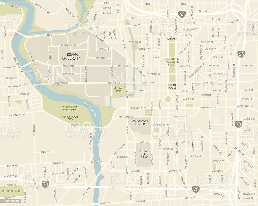 Downtown Indianapolis Hotels Map on