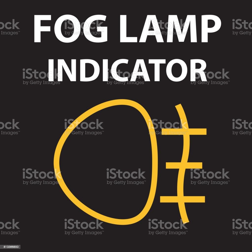Indicator Lights On The Car Dashboard Fog Lights Icon Vector Design