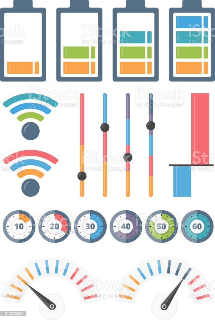 Indicators vector art illustration