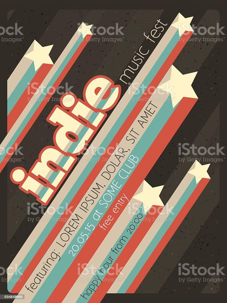 Affiche du festival de musique indépendante - Illustration vectorielle