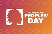 istock Indigenous Peoples Day. Holiday concept. Template for background, banner, card, poster with text inscription. Vector EPS10 illustration. 1273459787