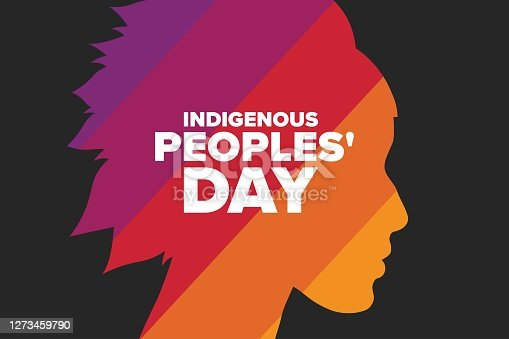 istock Indigenous Peoples Day. Holiday concept. Template for background, banner, card, poster with text inscription. Vector EPS10 illustration. 1273459790