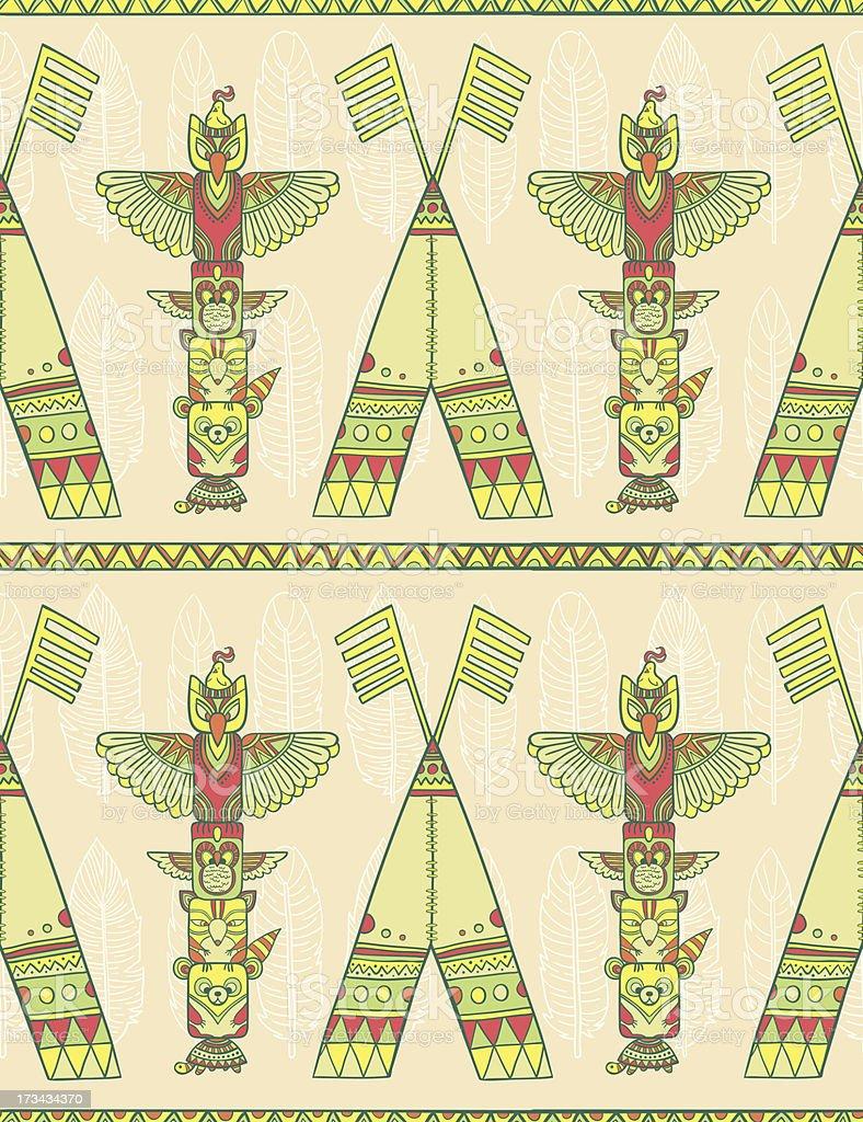 Indigenous seamless pattern royalty-free stock vector art